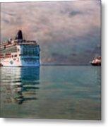 Cruise Ship Parking Metal Print