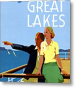 Cruise The Great Lakes Vintage Travel Poster Metal Print