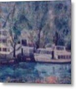 Cruiseboat On Rhine River Germany Metal Print