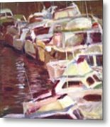 Cruisers Rafted Together Metal Print