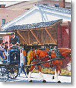 Cruisin By The Market Metal Print