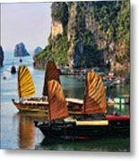 Cruising Ha Long Bay  Vietnam Metal Print