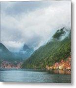 Cruising Lake Como Italy Metal Print
