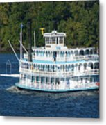 Cruising Up The Mississippi Metal Print