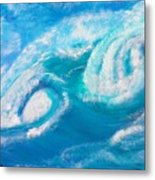 Crushing Wave Metal Print