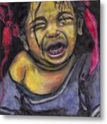 Cry Baby Cry Metal Print