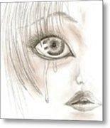 Crying Eye Metal Print