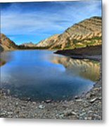 Crypt Lake Gold And Blue Metal Print
