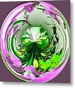 Crystal Ball Flower Garden Metal Print