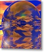 Crystal Ball Metal Print