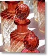 Crystal Bottles Metal Print