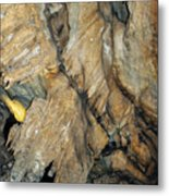 Crystal Cave Wall Formations Metal Print