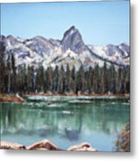 Crystal Crag From Twin Lakes Mammoth Ca Metal Print