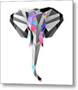 Crystal Elephant - 56 Metal Print