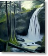 Crystal Falls In The Black Forest Dreamy Mirage Metal Print