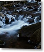 Crystal Flows In Hdr Metal Print by Joseph Noonan