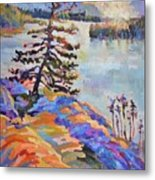 Crystal Light Over The Lake Metal Print
