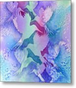 Crystal Migration Metal Print
