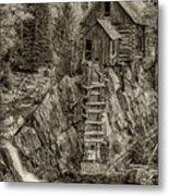 Crystal Mill Marble Colorado Sepia Dsc06944 Metal Print