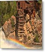 Crystal Mill Rainbow Metal Print