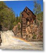 Crystal Mill Rainbow Portrait Metal Print