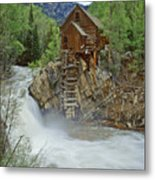 Crystal Mill Swirls Metal Print
