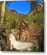Crystal Mill Through The Trees Metal Print