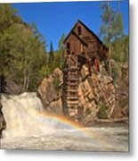 Crystal River Rainbow Metal Print