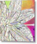Crystal White Lily Metal Print