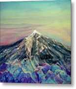 Crystalline Mountain Metal Print