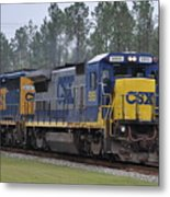 Csx 5955 Through Folkston Georgia Metal Print