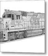 Csx Diesel Locomotive Metal Print