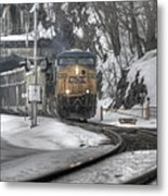Csx Northbound At Mine Dock Road Highland Falls New York Metal Print
