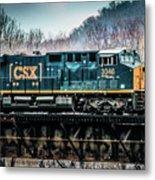 Cs X  Ge Engine 3046 On Trestle Metal Print