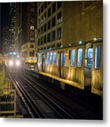Cta Meet At The State-lake Street Station Chicago Illinois Metal Print
