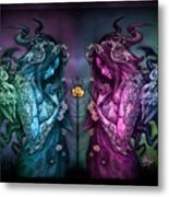 Cthluhu Rainbow Metal Print