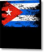 Cuba Flag Gift Country Patriotic Travel Shirt Americas Light Metal Print