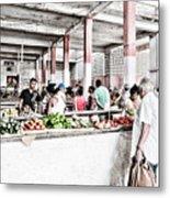 Cuba Market Metal Print