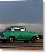 Cuban Car at Sunset Metal Print
