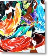 Cuban Dancers - Magical Rhythms... Metal Print