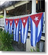Cuban Flags Metal Print
