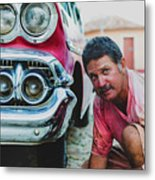 Cuban Mechanic Metal Print