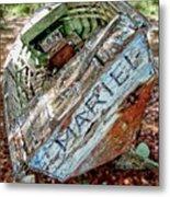Cuban Refugee Boat 3 The Mariel Metal Print