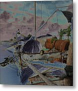 Cuban Refugee Raft  3 Metal Print