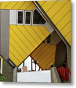 Cube Houses Detail In Rotterdam Metal Print