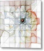 Cubed Pastels Metal Print