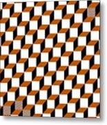 Cubism Squared Metal Print