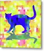 Cubist Cat Metal Print