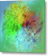 Cubist Rainbow Clouds Metal Print