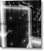 Cubistic Aspect Of Reflective Light Metal Print